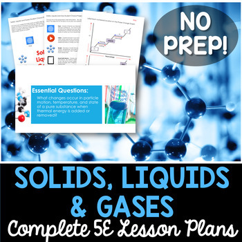 Solids Liquids and Gases Complete 5E Lesson Plan