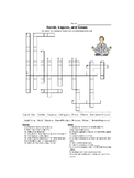 Solids, Liquids, and Gases Crossword Puzzle (with Key)
