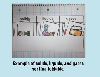 Solids, Liquids, and Gases Interactive Sorting Foldable