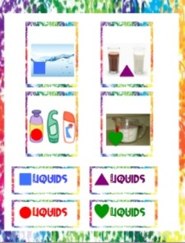 Solids, Liquids, and Gases Memory Game