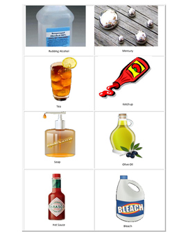 Solids, Liquids, and Gases Picture Sort