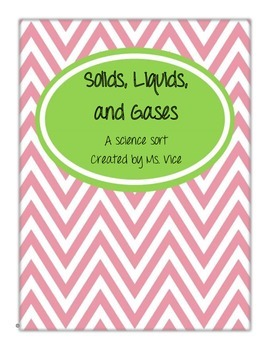 Solids, Liquids, and Gases Science Sort!