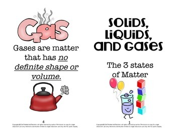 Solids, Liquids, and Gases States of Matter Interactive Science Booklet