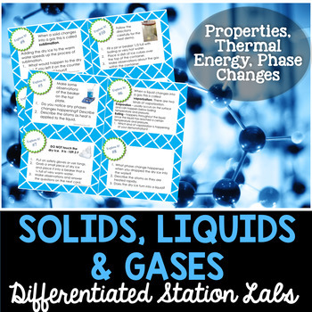 Solids Liquids and Gases Student-Led Station Lab