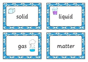 Solids, Liquids and Gases Word Bank