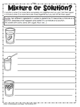 Solids, Liquids and Gases Worksheets