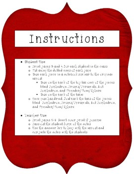 Solids Notes for Interactive Notebook