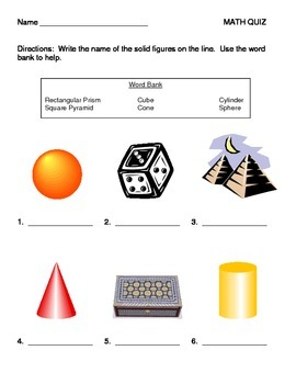 Solids and Angles QUIZ