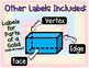 3D Solids and Labels (English and Spanish!)