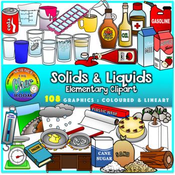 Solids and Liquids Clipart