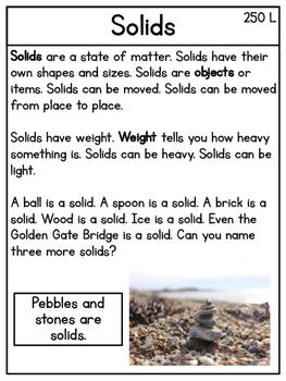 Solids and Liquids Mini Unit