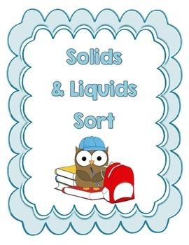 Solids and Liquids Sort