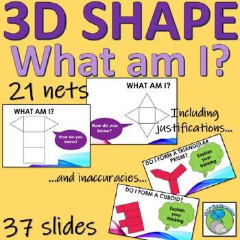 Solids, nets, descriptions and problem solving of 3D shapes