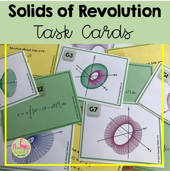 Calculus: Solids of Revolution Match-Up Activity
