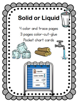 Solids or Liquids Printable