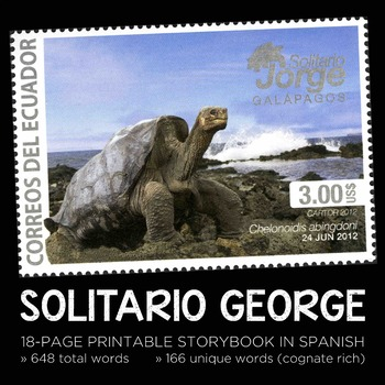 Solitario George Spanish non-fiction printable storybook