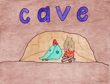 Solitary Cave Cartoon--Printable Montessori Homonym Cards