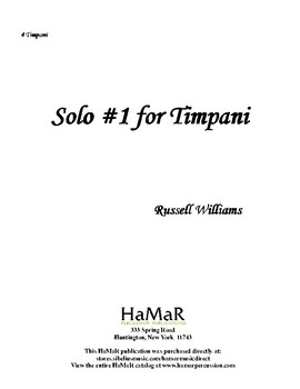 Solo #1 for Timpani