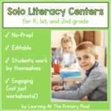 Solo Literacy Centers K-2 Bundle