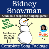 Solo Response - Reinforces s,m,l | Sidney Snowman | Complete Song Package