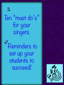 Solo and Ensemble Vocal Performing Tips