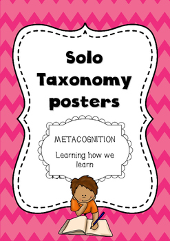 Solo taxonomy, growth mindset and Metacognition essential posters