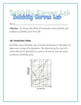 Solubility Curves Lab