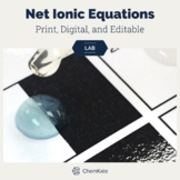 Net Ionic Equations Solubility Lab - Print, Digital, and Editable