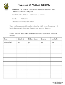 solubility lab worksheet answers kidz activities. Black Bedroom Furniture Sets. Home Design Ideas