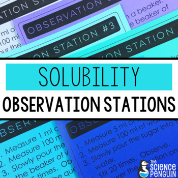 Solubility Observation Stations