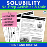 Solubility   Physical Properties of Matter Comprehension Unit Distance Learning