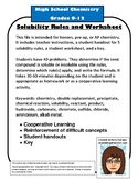 Solubility Rules and Precipitate Practice Worksheet Double Replacement
