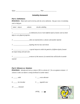solubility worksheet hw by purplepanda teachers pay teachers. Black Bedroom Furniture Sets. Home Design Ideas