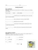 Solubility Worksheet (HW)