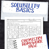 Solubility and Hydration Shell Basics Chemistry Homework Worksheet