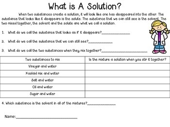 Soluble or Insoluble