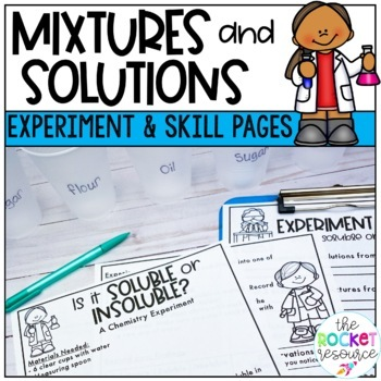 Solutes Solvents Solutions Worksheets Teaching Resources TpT