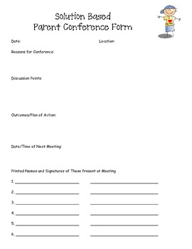 Solution Based Parent Conference Forms
