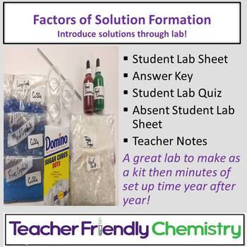 Chemistry Lab: Factors of Solution Formation