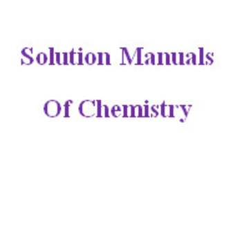 Solution Manuals of Chemistry for Sale