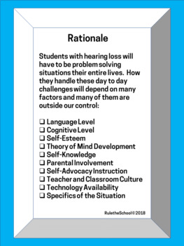 Solution Pages for Secondary Students with Hearing Loss