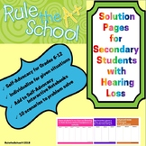 Digital Solution Pages for Secondary Students with Hearing Loss