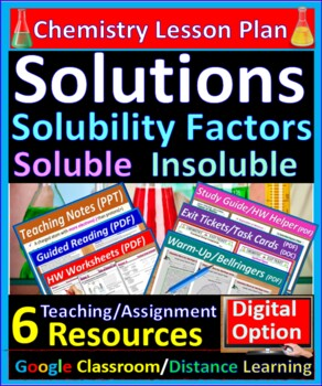 Properties of Solutions, Solute, Solvent: Essential Skills Lesson & Worksheet#24