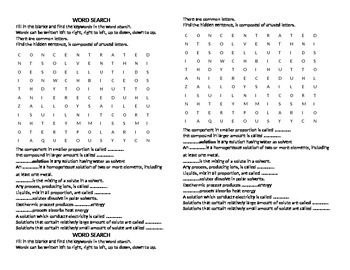 Solution Word Search