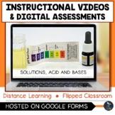 Solutions, Acids & Bases Instructional Videos & Digital Qu