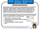Solutions, Concentration, Molarity Tournament
