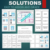 Solutions (Concentration, Saturated, Solvent, etc) Sort & Match Activity