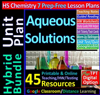 Solutions Topic Bundle: 6 Essential Skills Worksheets for HS Chem