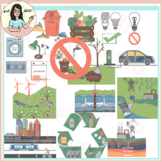 Solutions For Pollution Clip Art, Reduce, Recycle, Environment, Save Energy etc