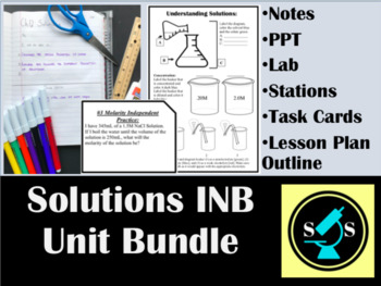 Solutions Interactive Notebook (INB) Bundle (w/ task cards and labs)
